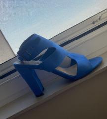 Kraljevsko plave Šafran sandale-štikle