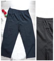 Crne lagane pantalone sa lastisem