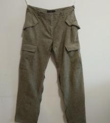 CALVIN KLEIN pantalone od vunene teksture VRHUNSKE