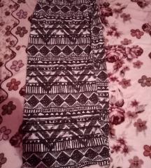 Duga siva suknja+ogrlica+poklon