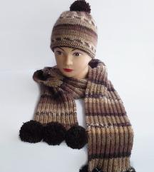 Komplet kapa + dugački šal