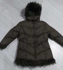 Duza jakna sa krznom vel. 122 - kao nova