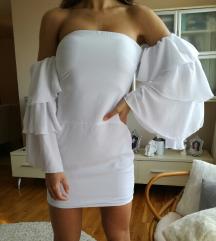 Bela svečana haljina