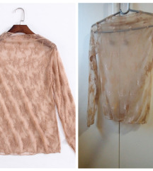 Bluza od tila, prozirna, uni veličina, NOVO