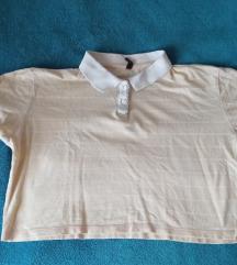 Crop top majica sa kragnom