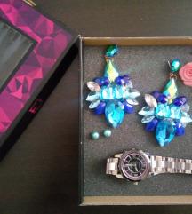 Set nakita (mindjuse i sat) u elegantnoj kutiji