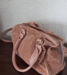 Roza torba sa sljokicama