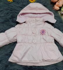 Svetlo roze debela jaknica za bebe devojcice