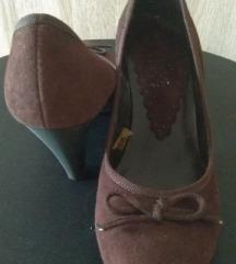 Braon cipele na štiklu
