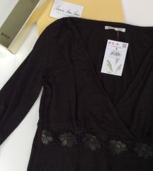 ANNA FIELD crna bluza sa cipkom