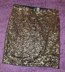 Zlatna suknja H&M