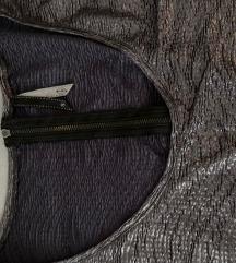Stradivarius svetlucava srebrna haljina