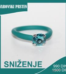 Swarovski gumeni prsten SNIŽENJE
