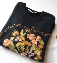 Vintage floral duks/džemper