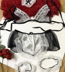Maid fetish lingerie ~ Sobarica set🤍🖤