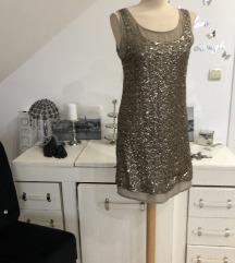 MANGO zlatna haljina - NOVO