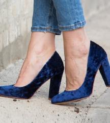 Teget plisane cipele Claudia Donatelli 40