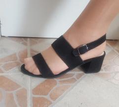 BLUE MOTION crne kozne sandale