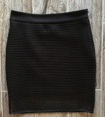 NOVA crna suknja sa mrezom
