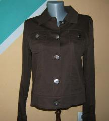 Braon pamučna tanka prolećna kratka jakna , nova