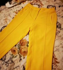 Zara žute pantalone xs/s