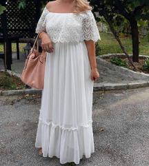 Duga bela haljina M/L
