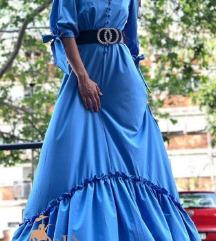 EvaRoza plava haljina, nova!  (fali dugme) 40/42