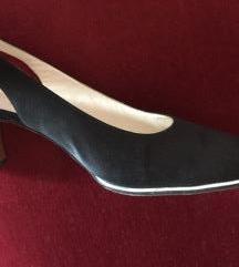 sandale od satena crne