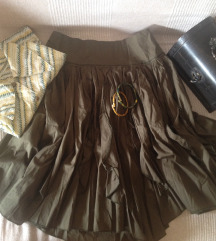 Maslinasto zelena suknja