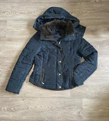Teget zimska strukirana jakna H&M S/M