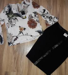 F&F suknja sa koznim detaljem NOVO