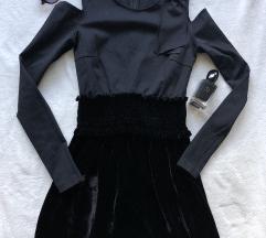 PINKO ORIGINAL predivna crna haljina S KAO NOVA