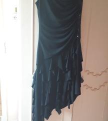 Cra haljina na jedno rame