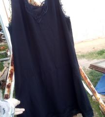 *SNIZENO* Crna haljina sa vezom