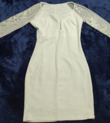 Svečana haljina sa vezom na rukavima