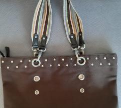 Esprit kao nova srednja braon torba