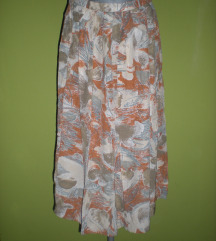 Šarena suknja zemljanih boja