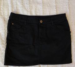 H&M crna teksas miji suknja