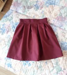 Bordo suknja - faltice