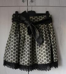 CRNO/ZLATNA elegantna suknja