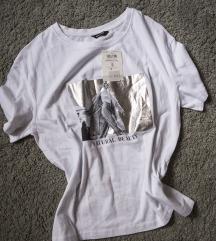 CLP bela majica sa printom, vel. S