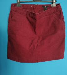 Barsan mini suknjica sa zipsom- H&M