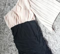 *SALE* Dvobojna haljina na jedno rame, vel. S