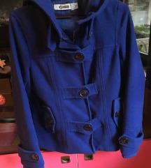 Kraljevsko plavi kaput Dostupan i crni