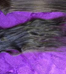 Prirodna kosa na klipse