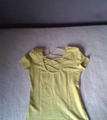 Senf kratka majica sa poluotvorenim ledjima