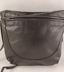 Tamno - braon kožna torba