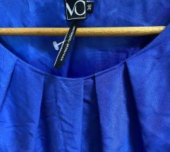Plava haljina kratkih rukava  S 36 vel NOVO