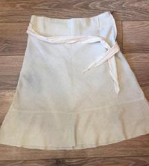 Lanena letnja suknja vel L