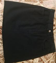 Crna,teksas suknja, veličina 36